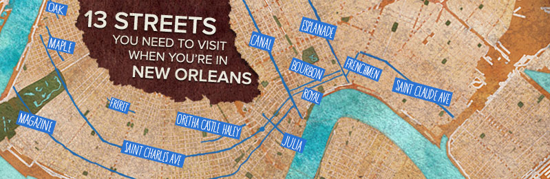 13 Streets You Need To Visit While Youre in New Orleans – Tourist Map New Orleans