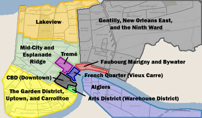 New Orleans Neighborhood Map