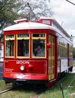 The Canal Street Streetcar in New Orleans