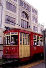 The Riverfront Streetcar in New Orleans