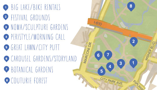 Bike Routes in New Orleans on