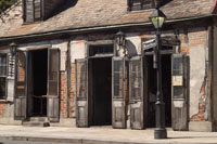 Jean Lafitte's Blacksmith Shop on Bourbon Street