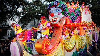 Colorful Mardi Gras Float In New Orleans