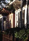 Row of New Orleans Shotgun Houses