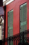 Shutters on Side of French Quarter House