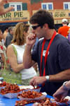 Sucking Crawfish Tails at Jazz Fest