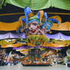 Papier Mache Jesters at Mardi Gras World