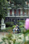 Couple Relaxing in Jackson Square